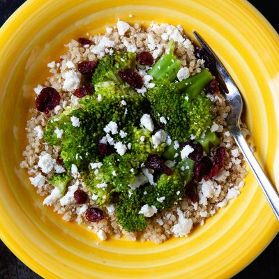 Single Serve Quinoa with Broccoli and Feta