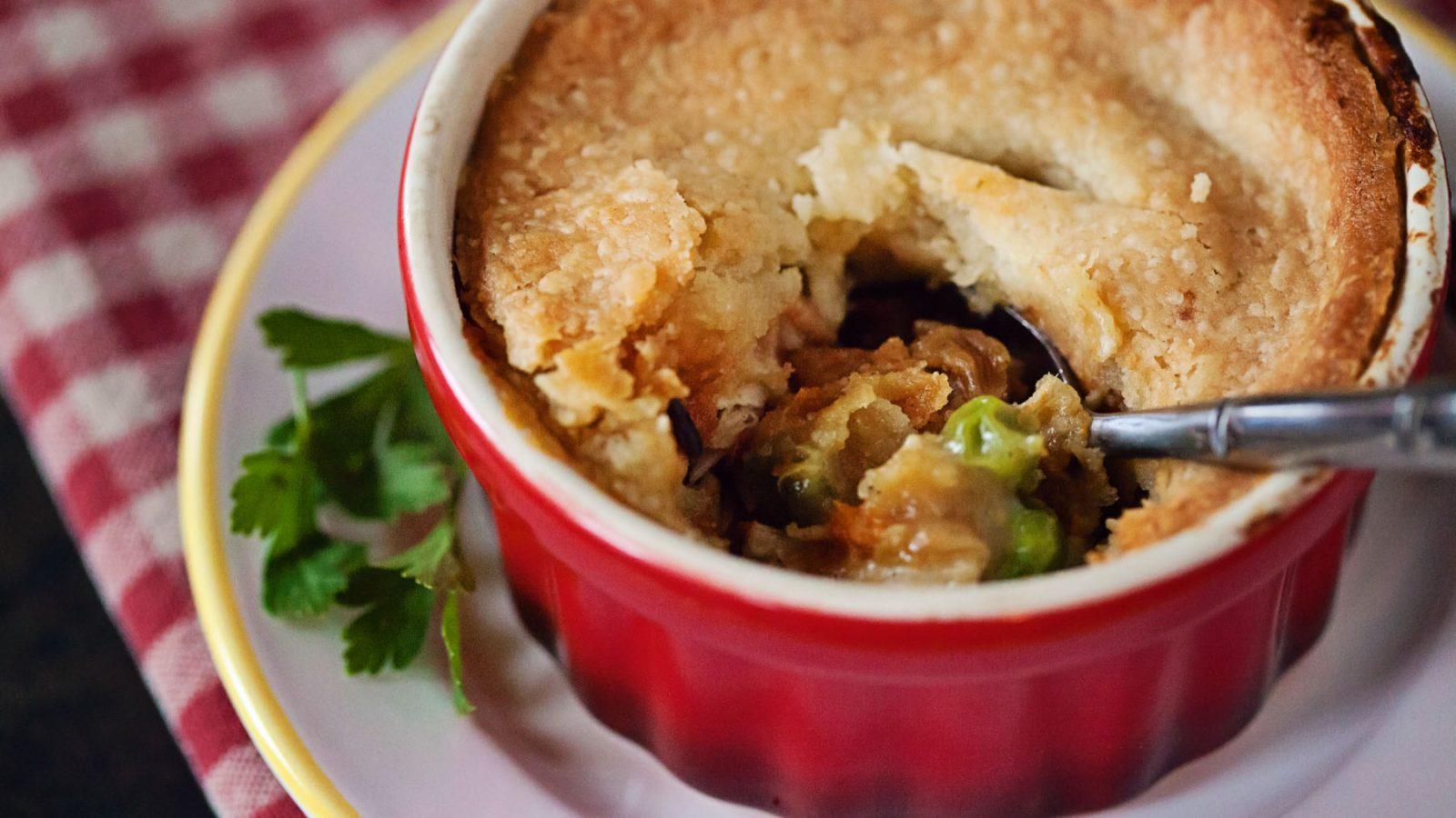 Single Serve Chicken Pot Pie