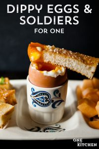 Soft Boiled Eggs and Soldiers for One